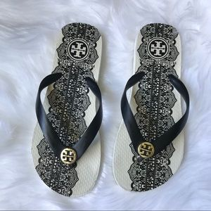 Tory Burch black and white flip flops 7